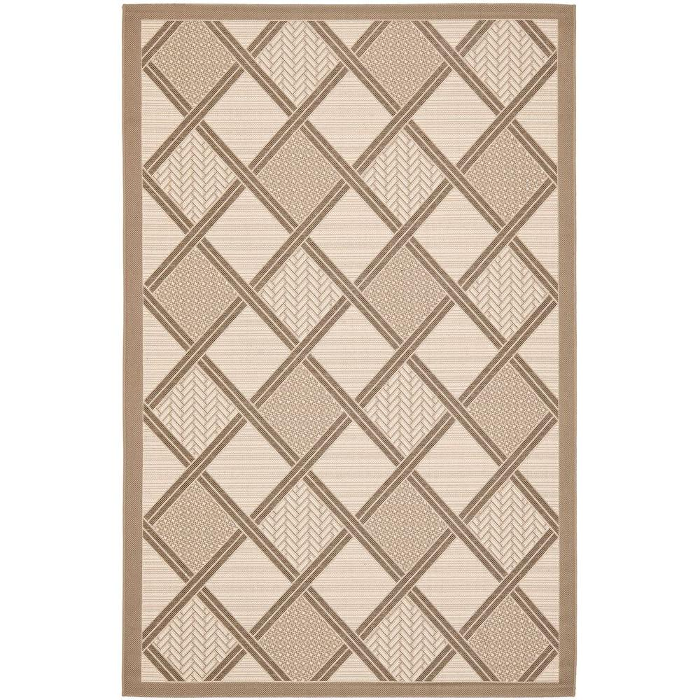 Courtyard Beige/Dark Beige 5 ft. 3 in. x 7 ft. 7
