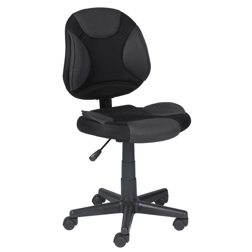 Grey & Black Mesh Office Chair
