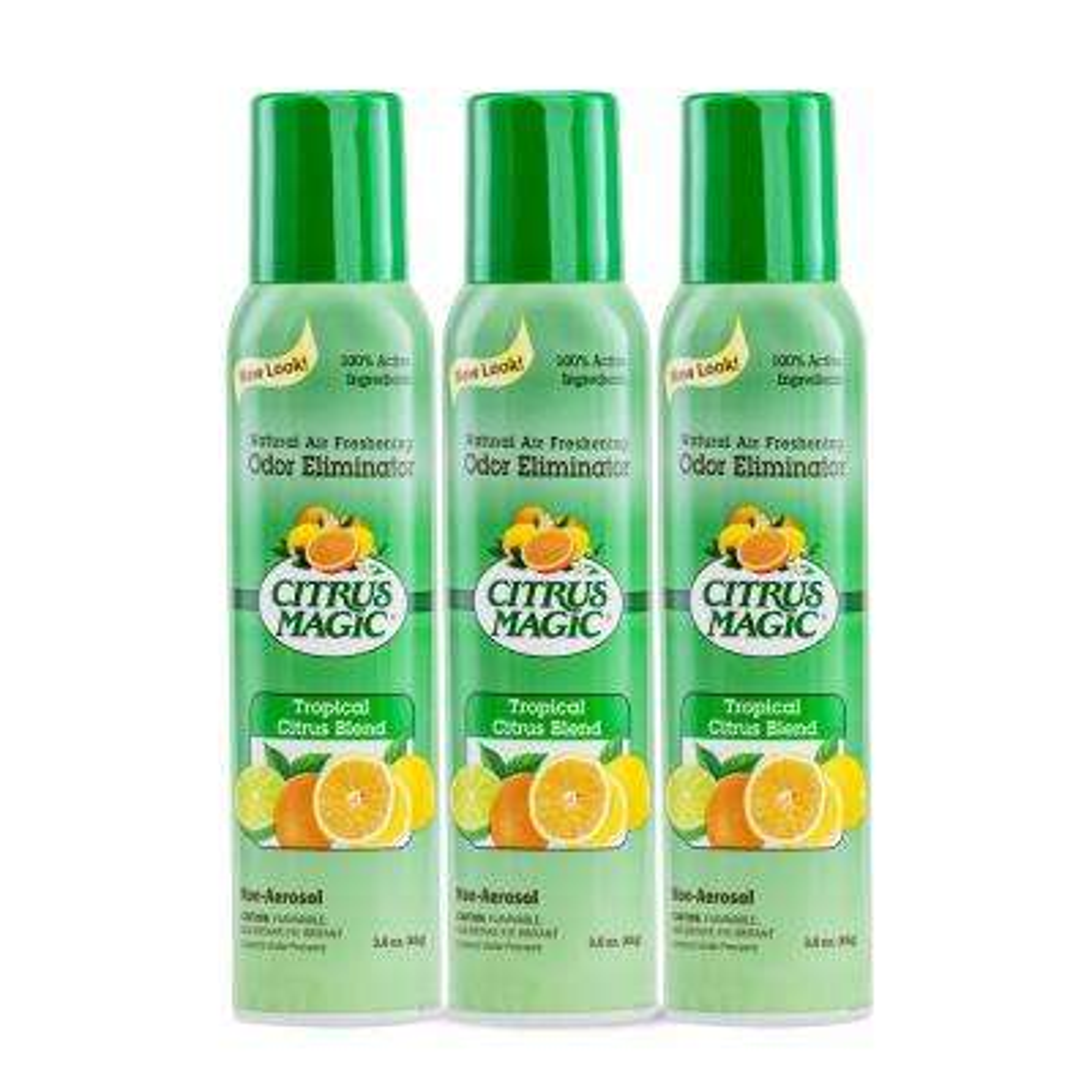 3 oz. Tropical Citrus Blend All Natural Odor Eliminating Air Freshener Spray (3-Pack)
