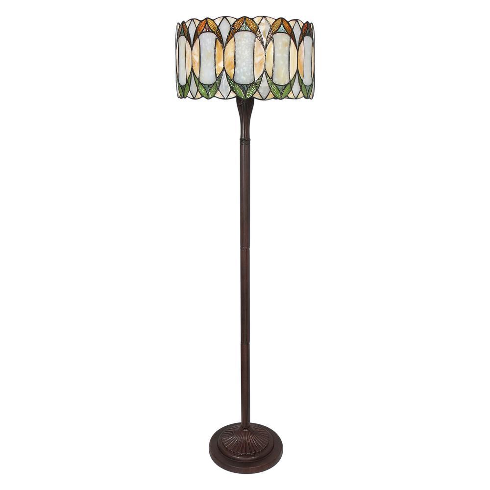 Serena D'italia 58 in Tiffany Style Contemporary Drum Floor Lamp