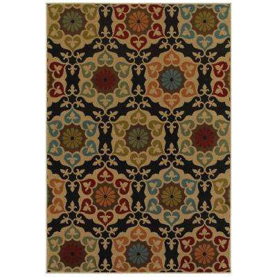 Amelia Medallion Black 4 ft. x 6 ft. Area Rug