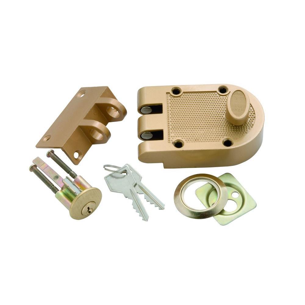 First Watch Security Polished Brass Single Cylinder Interlocking Door Deadbolt