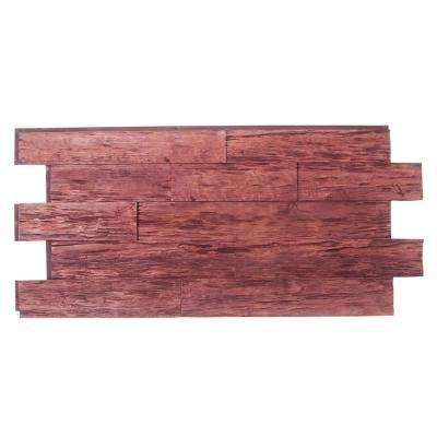Time Weathered Faux Rustic Panel 1-1/4 in. x 48 in. x 23 in. Mahogany Polyurethane Interlocking Panel