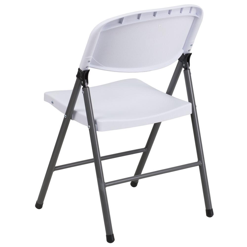 Internet #301092573. Flash Furniture Hercules Series 330 Lb. Capacity White  Plastic Folding ...