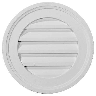 2 in. x 16 in. x 16 in. Functional Round Gable Louver Vent
