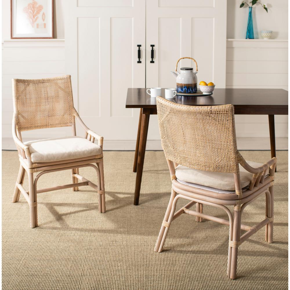 Safavieh Donatella Natural White Wash Cotton Chair ...