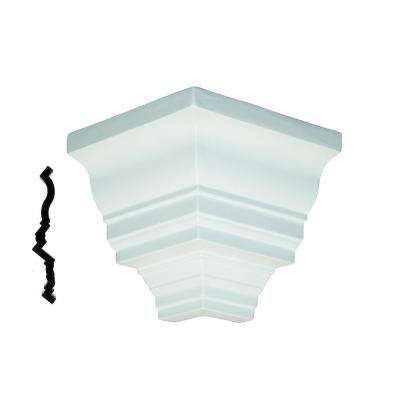 1/4 in. x 8-1/2 in. x 5 in. Primed Polyurethane Colonial Dentil Outside Corner Block Moulding