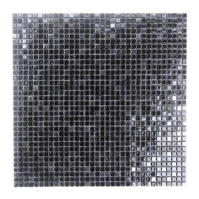 Constellation Black 11.7 in. x 11.7 in. x 3.20 mm Glass Mosaic Tile