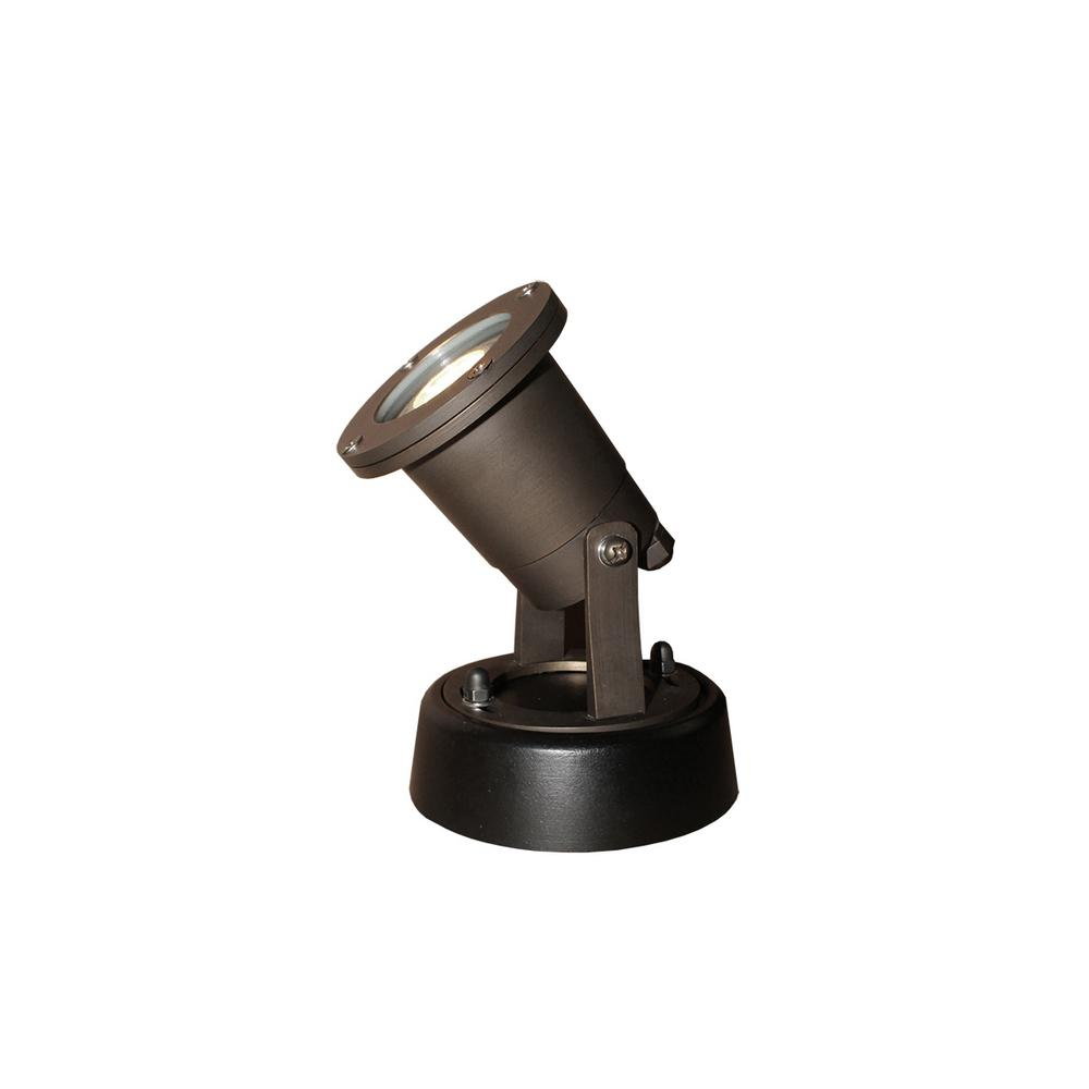 6-Watt Bronze Outdoor Integrated LED Landscape Well Light