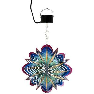 12 in., 3D Blue Dream Wind Spinner with Electric-Operated Motor