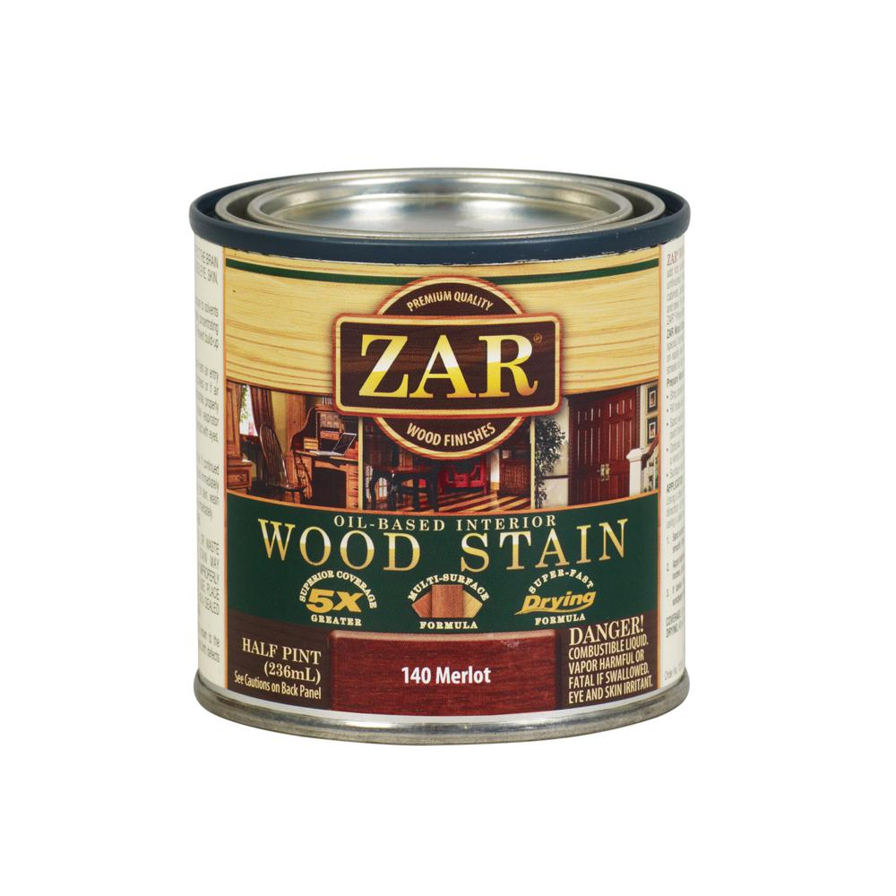 Zar 8 Oz Merlot Wood Interior Stain 2 Pack 209142 The Home Depot