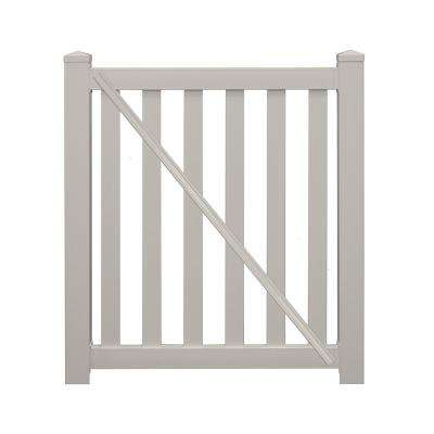 Captiva 4 ft. x 4 ft. Tan Vinyl Pool Fence Gate