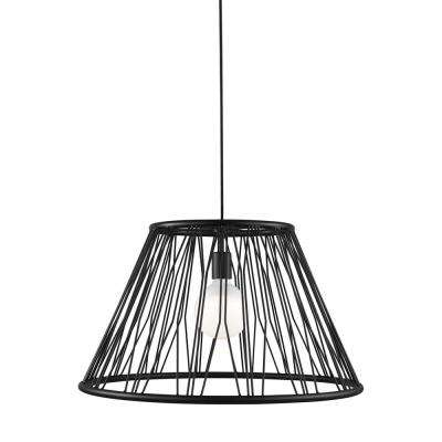 Diamant Grande 1-Light Matte Black Pendant with LED Bulb