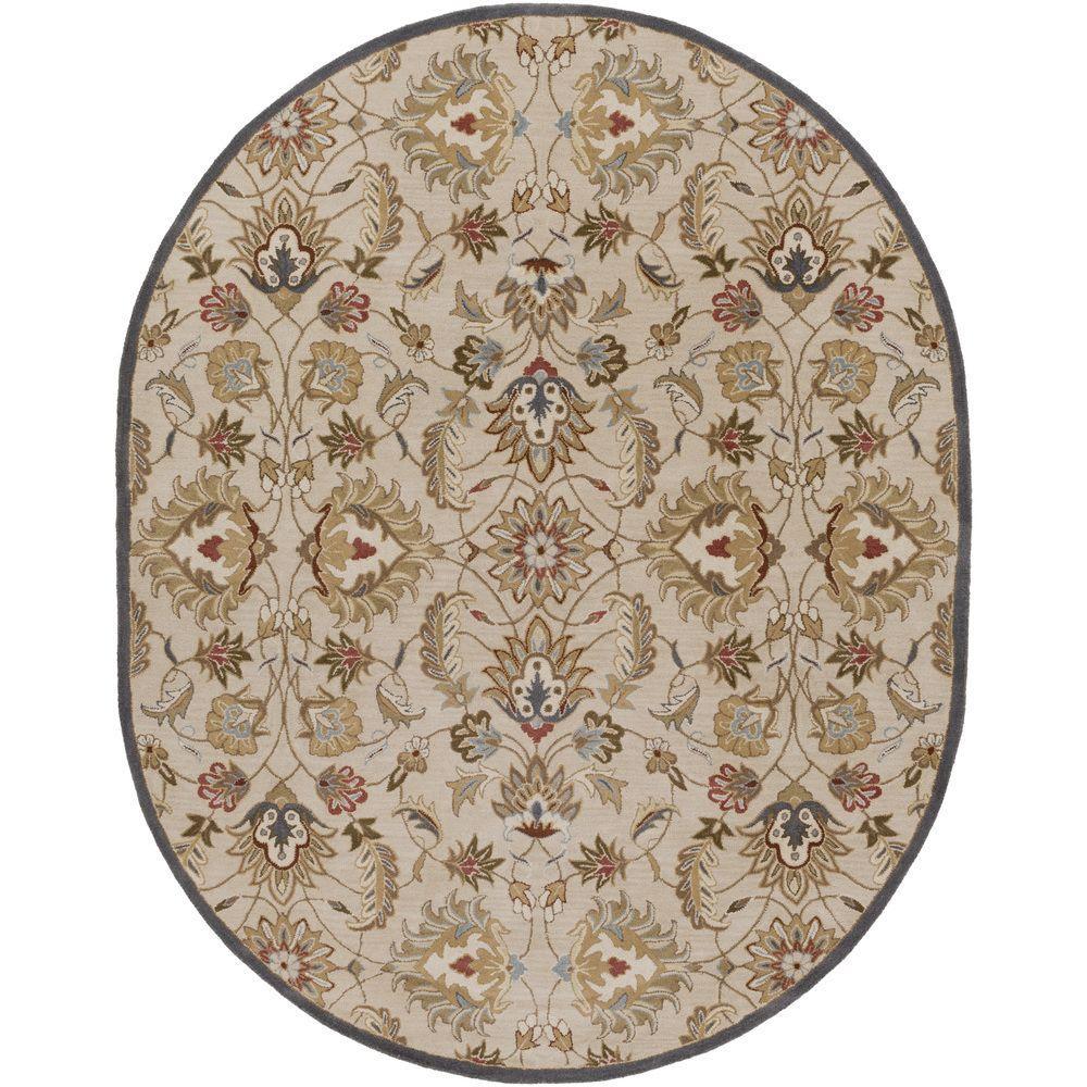 Large Oval Area Rugs: Artistic Weavers Galba Beige 8 Ft. X 10 Ft. Oval Indoor