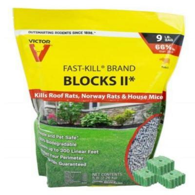 Fast-Kill 9 lbs. Rodenticide Bait Blocks II Bag