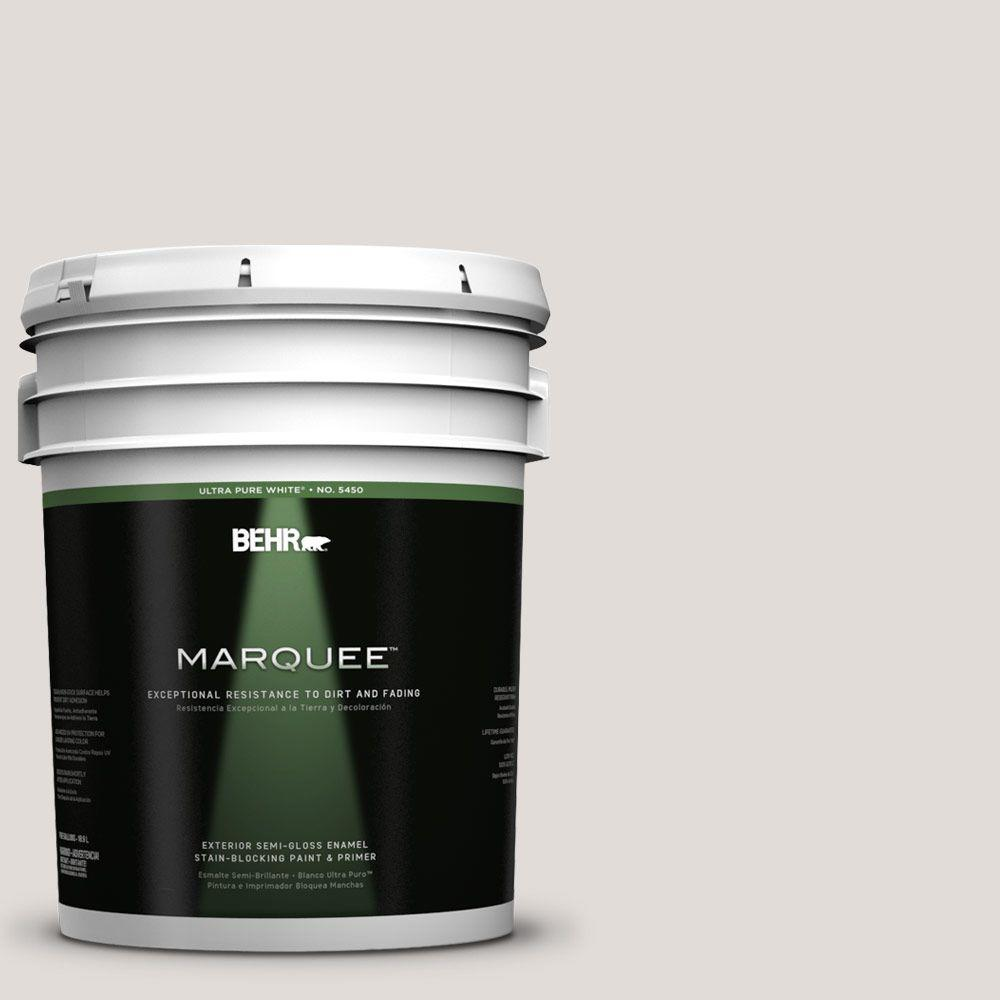 BEHR MARQUEE 5-gal. #PPL-63 Hint of Mauve Semi-Gloss Enamel Exterior Paint