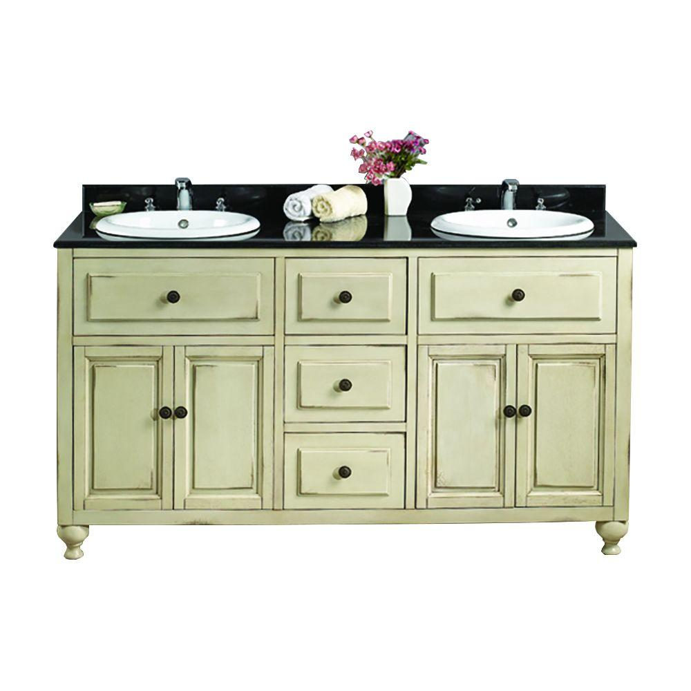 bathroom vanities 2 sinks ove decors kensington ii 60 in w x 21 in d vanity in 16936