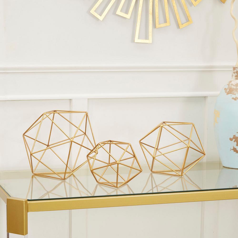 Wire Decorative Sphere Metal (Set of 3)