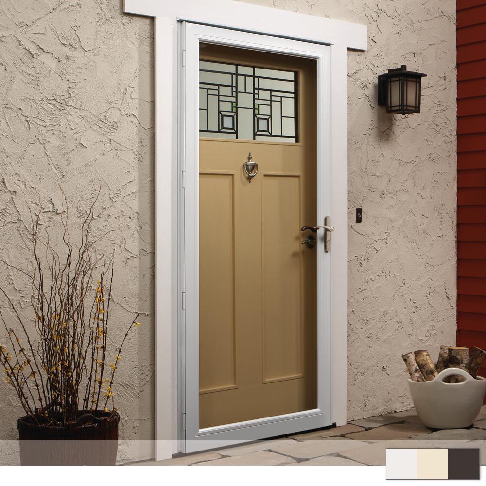 Larson Value Core Mid View Aluminum Storm Door From 37909 Nextag