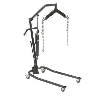 Hydraulic Patient Lift with 6-Point Cradle 3 in. Casters Silver Vein