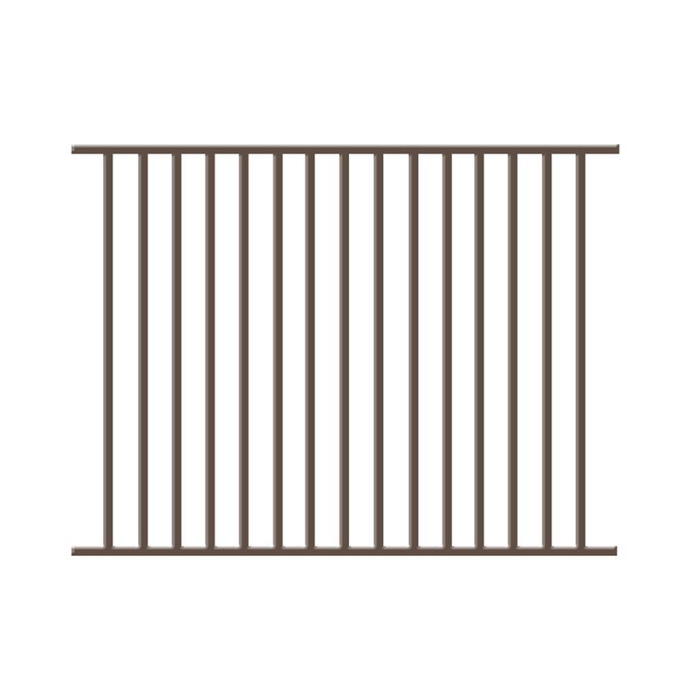 Vinnings 4.5 ft. H x 6 ft. W Bronze Aluminum Fence Panel
