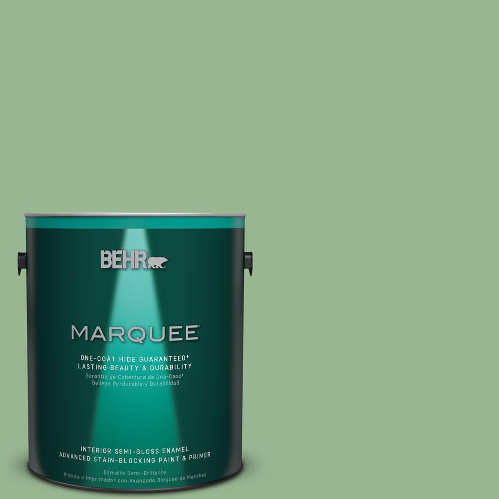 1 gal. #M400-4 Brookview One-Coat Hide Semi-Gloss Enamel Interior Paint