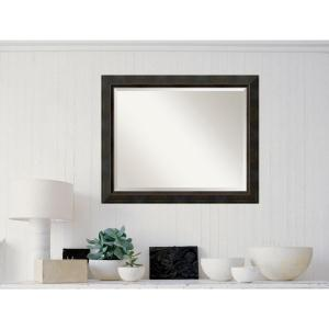 Signore Bronze Wood 33 in. W x 27 in. H Traditional Framed Mirror