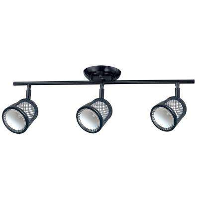 Baltimore 23.2 in. 3-Lights Black and Pewter Track Lighting Kit