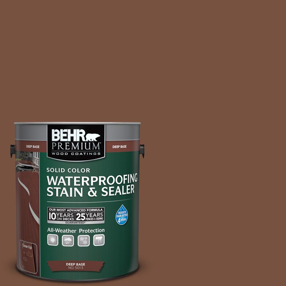 1 gal. #S200-7 Earth Fired Red Solid Color Waterproofing Exterior Wood