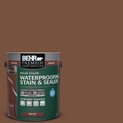 1 gal. #S200-7 Earth Fired Red Solid Waterproofing Stain and Sealer