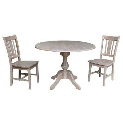 Sophia 3-Piece Weathered Taupe Drop-leaf Dining Set with 2-San Remo Chairs