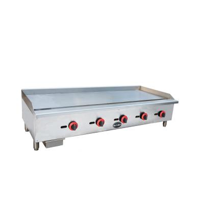 60 in. Commercial Griddle Gas Cooktop in Stainless Steel with 5 Burners