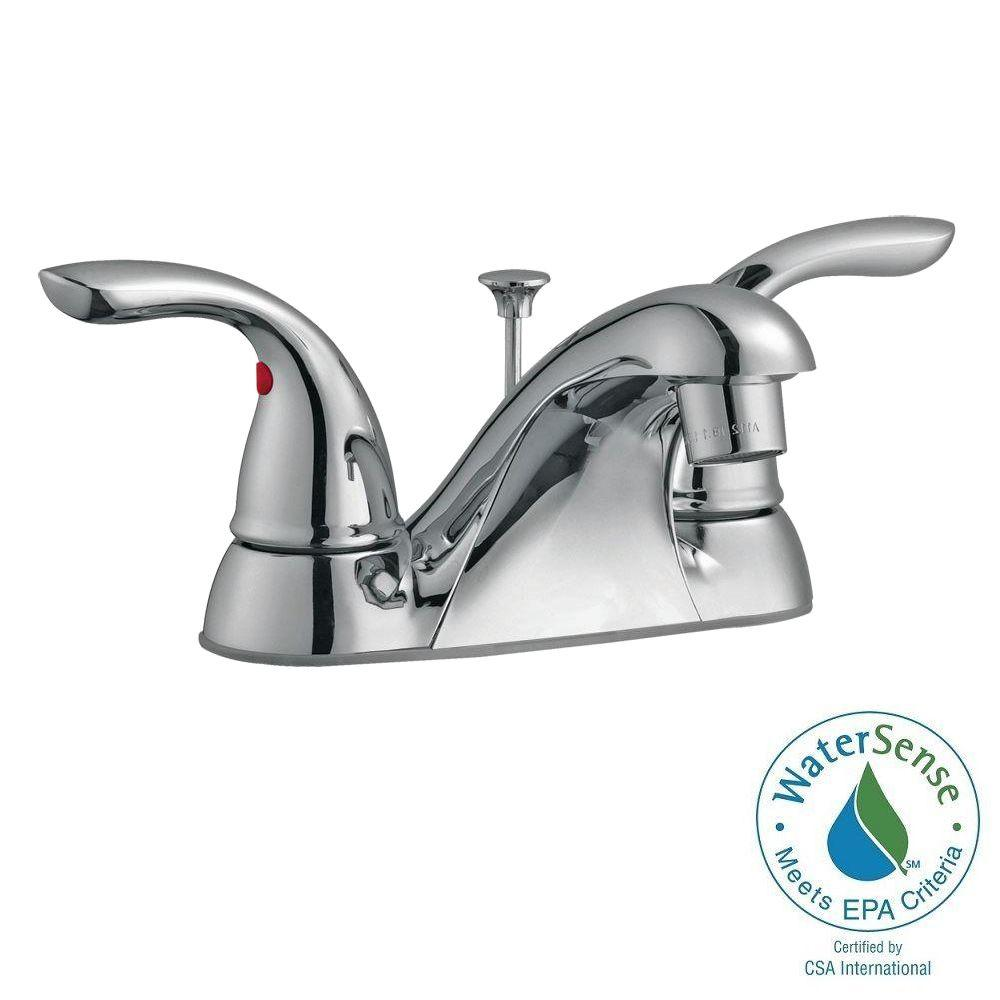 Ashland 4 in. Centerset 2-Handle Bathroom Faucet in Polished Chrome