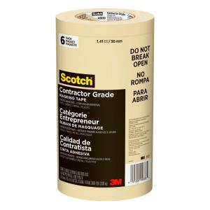 Scotch 1.41 in. x 60.1 yds. General Purpose Masking Tape (6-Pack) (Case of 4)