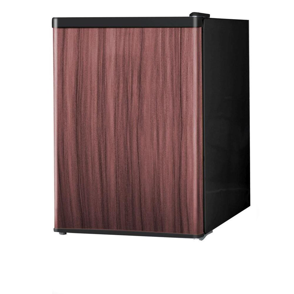 Midea 2.4 Cu. Ft. Mini Refrigerator In Wood-Like Finish