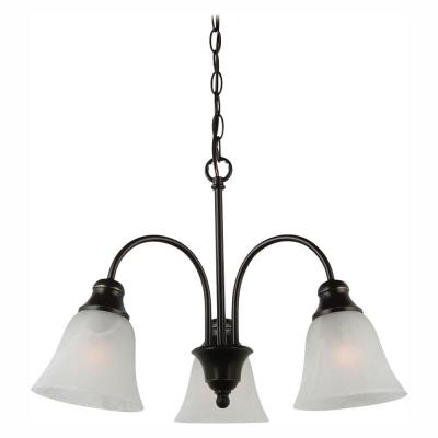 Windgate 3-Light Heirloom Bronze 1-Tier Chandelier