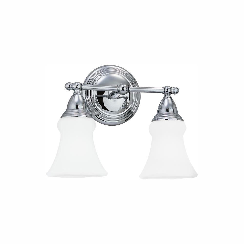 Sagemore 2-Light Chrome Bath Light with LED Bulbs