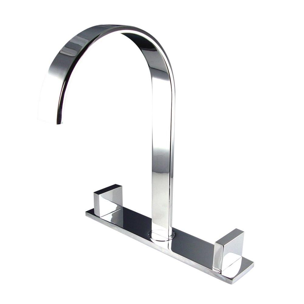 Fresca Sesia 8 in. Widespread 2-Handle Bathroom Faucet in Chrome ...