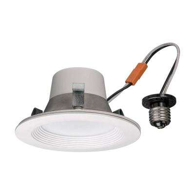 4 in. Wink Compatible Selectable LED Smart Recessed Trim 600 Lumens 2700K 4000K 5000K Dimmable