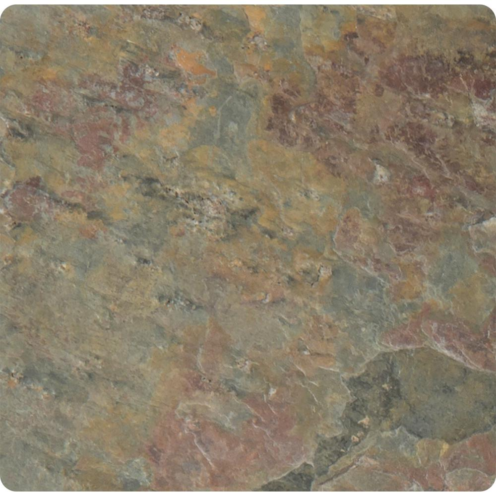 Multi Color 4 in. x 4 in. Tumbled Slate Floor and