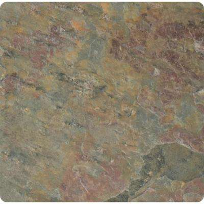 Multi Color 4 in. x 4 in. Tumbled Slate Floor and Wall Tile (1 sq. ft. / case)
