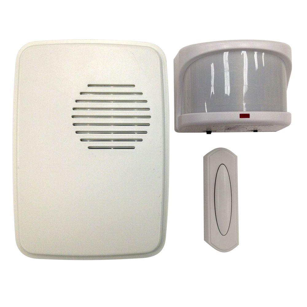H&ton Bay Wireless Motion Alert Door Bell Kit  sc 1 st  Home Depot & Hampton Bay Wireless Motion Alert Door Bell Kit-HB-7903-02 - The ...