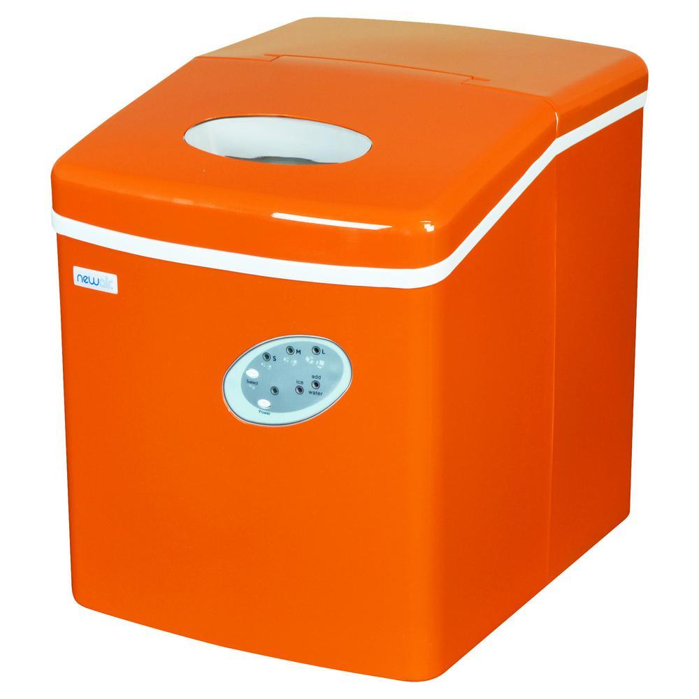 28 lb. Freestanding Ice Maker in Orange