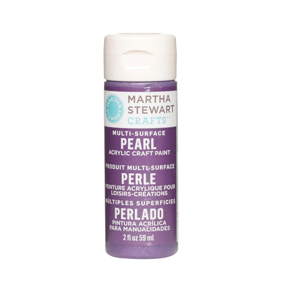 Martha Stewart Crafts 2-oz. Purple Martin Multi-Surface Pearl Acrylic Craft Paint