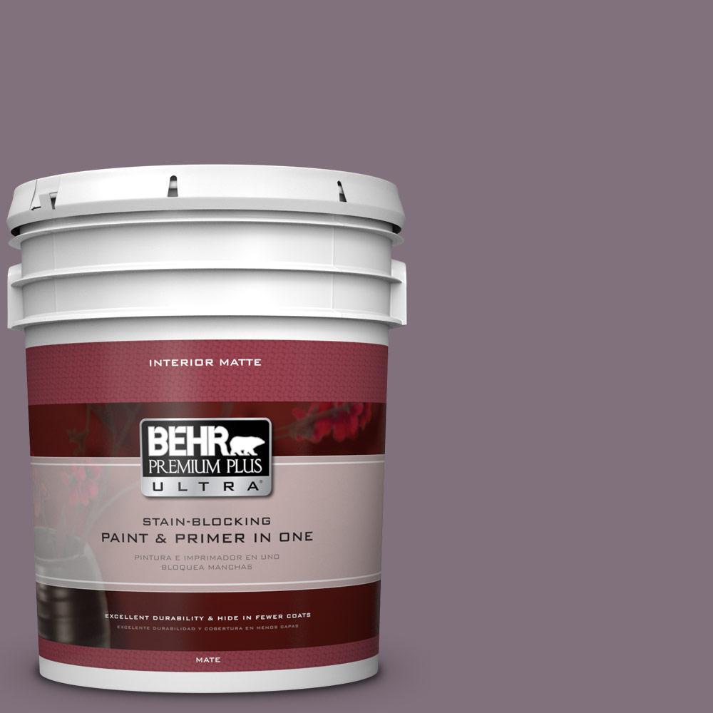 5 gal. #690F-6 Wine Frost Flat/Matte Interior Paint