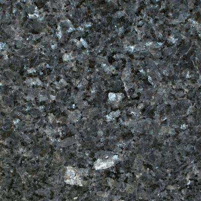 3 in. x 3 in. Granite Countertop Sample in Blue Pearl