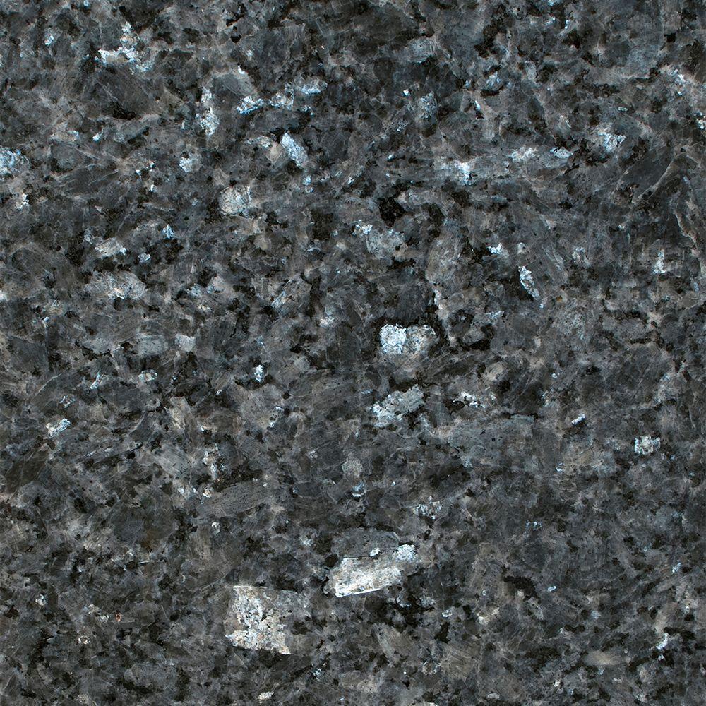 STONEMARK 3 in. x 3 in. Granite Countertop Sample in Blue Pearl