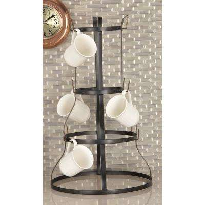 Set of 2 Industrial Iron Mug Rack