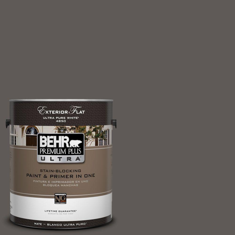 BEHR Premium Plus Ultra 1-Gal. #UL260-2 Intellectual Flat Exterior Paint