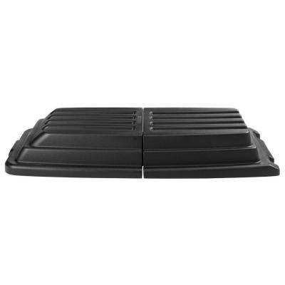 Rubbermaid Commercial Products 1 cu. yd. Black Tilt Truck Hinged Dome Lid by Rubbermaid Commercial Products